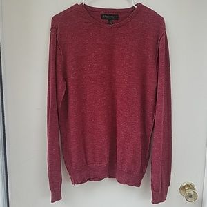 Aeropostale medium red inside out sweater